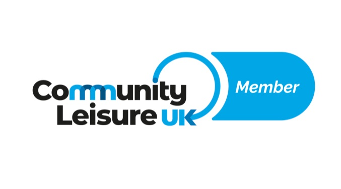 Community leisure logo more white space