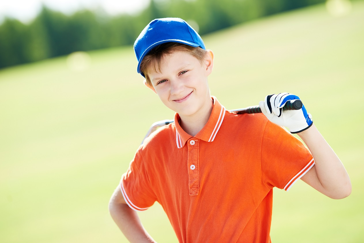 young boy golfer